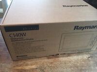 NEW RAYMARINE C140W WIDESCREEN CHARTPLOTTER RADAR SONAR GPS WITH NAVIONICS CHARTS
