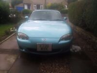 Mazda MX5 2000 Roadster Convertible Auto 1800cc Crystal Blue