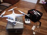 phantom 4 drone with carry case as new condition 975.00