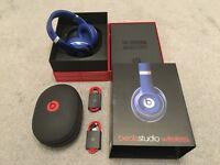 GENUINE Apple Beats Studio Wireless Over-Ear Headphones - Blue MHA92B/A