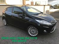 JULY 2012 FORD FIESTA 1.4 TDCI 70 BHP TITANIUM EXCELLENT SPEC FINANCE AVAILABLE FROM ONLY 119 PER MT