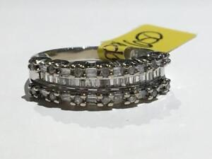 #1605 10K WHITE GOLD CUSTOM DIAMOND BAND TOTALING .55CT IN DIAMONDS! *SIZE 7 1/2* APPRAISED AT $1950.00 SELL FOR $650.00