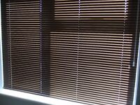VENETIAN BLINDS X 2, COLOUR BRONZE, SIZE Width 145cm, Drop 114xm