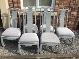 6 refurbished stunning chairs. Dining Farrow & ball