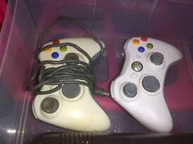 Xbox 360 plus various games and accessories
