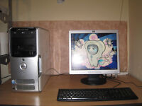 "DELL Wireless Gaming PC Dual-Core 3.4Ghz x 2, 4gb ram, 17"" LCD, Full setup"