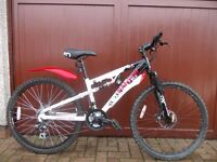 Mountain bike ,full suspension,disc brakes ,very clean just serviced