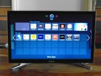 2x SAMSUNG 22inch FULLY SMART TV'S,BUILT IN WIFI,FREE DELIVERY GLASGOW