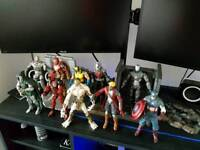 Various marvel select action figures.