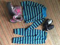 Kids Ski Accessories Thermals boots gloves (3-4 yrs)