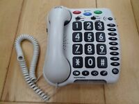 Telephone for the hard of hearing