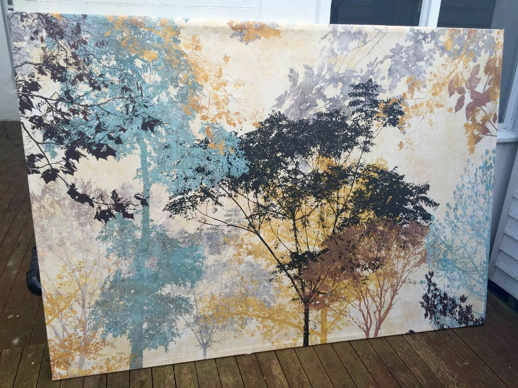 Huge Ikea Forest Ambience Canvas Like New In Brighton