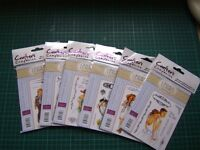 six stamps from the crisalis collection brought to you by Crafters Companion