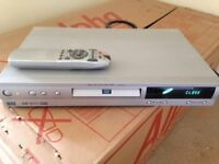 DVD Player DOLBY Silver Grey Part Working Buy To Fix Or For Parts, With Remote