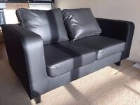 1 month old Black Leather Sofas