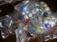 40 bags of MARBLES some small some large - Collect NORTHAMPTON