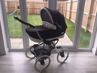Bebecar Stylo Class Combination Carrycot and Pushchair Like New