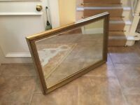 Quality gold/gilt mirror