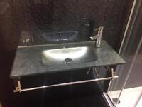 Ex display glass sink