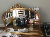 Beatiful Mirror (wood painted gold)