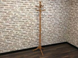 Wooden Floor Standing Coat Rack Stand for Hallway or Cloakroom