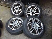 Mercedes AMG c class 17 genuine alloys