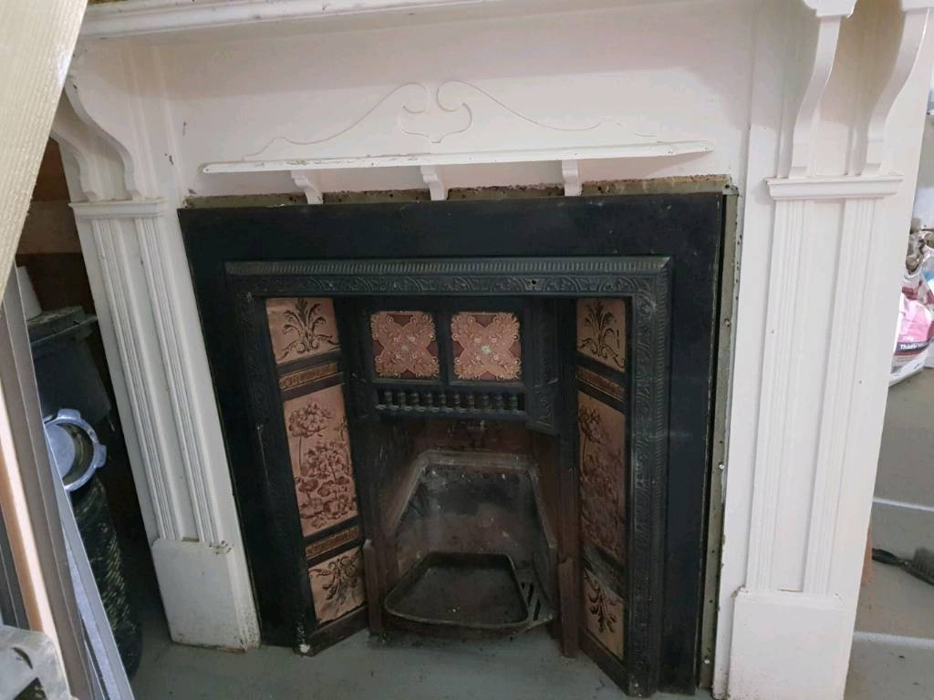 Victorian fire place and wooden surround