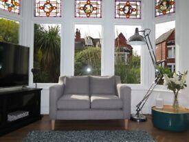 Grey NEXT Small Petite 2 Seater Sofa