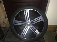 "4x 18"" golf r Cadiz alloy wheels and Bridgestone r performance tyres"