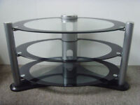 Glass 3-shelf Oval TV Stand Table - FREE DELIVERY