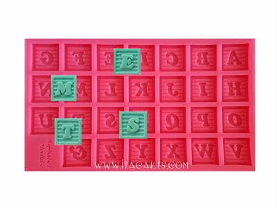 Large Alphabet Block - Large Alphabet Baby Block Silicone Mold, Letters Silicone Mold, Alphabet Mold