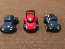 3 Push and go cars