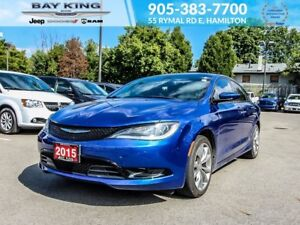"2015 Chrysler 200 S, 8.4"" DISPLAY, BLUETOOTH, 18"" WHEELS, AC"