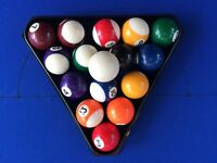 Junior Pool Balls with Triangle