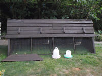 Forsham Cottage Arks Boughton 904 double sized chicken ark up to 15 chickens, combined coop & run