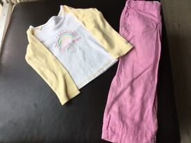 Girls top trousers outfit 2-3 years