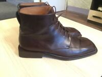 Luxurious Louis Vuitton mens brown leather boots, 43/uk9, RRP $1100
