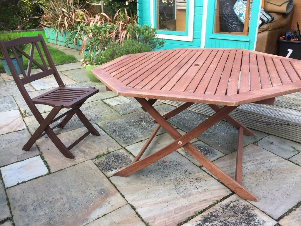 Sensational Wooden Outdoor Dining Table And Chairs 40 In Kingswells Aberdeen Gumtree Download Free Architecture Designs Rallybritishbridgeorg