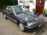 Mercedes 190E , Immaculate condition, Low mileage, Owner selling due age infirmity