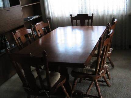 7 Piece Good Quality Dining Room Table and Chairs Mayfield West Newcastle Area Preview