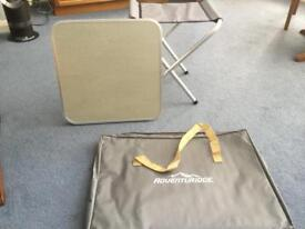 New Camping table top and stool