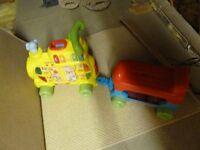 VTech train and trailer with letter blocks