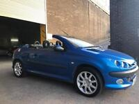 PEUGEOT 206CC IN STUNNING METALLIC BLUE WITH NEW 12 MONTHS MOT!!