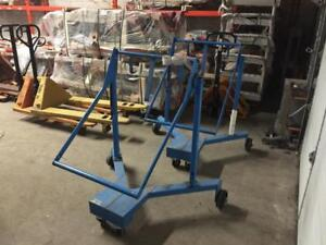 Used Drum dolly, cart, mover, lift, Morse Fork Mounted Drum Handler, clamp