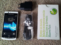 VGC Boxed White Sony Ericsson Xperia Arc S LT18i 3G Mobile Phone Cell