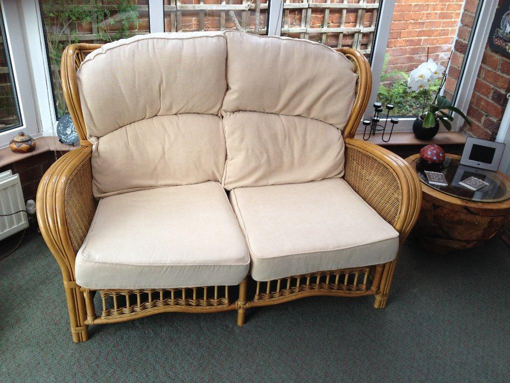 Conservatory 2 Seater Cane Sofa In York North Yorkshire