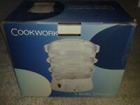 Cookworks 3 bowl steamer