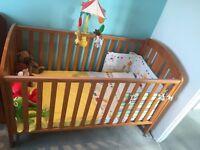 "Nursery bedroom baby mamas and papas ""Fern"" pine set/ CotBed/ Wardrobe/ Drawers"