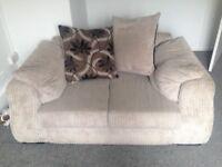 2 seater cream/beige sofa