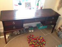 Beautiful solid wood vintage dresser/ desk with draws